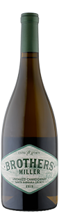 Brothers Miller Santa Barbara Unoaked Chardonnay 2018
