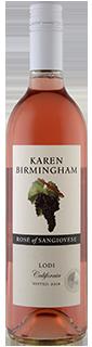 Karen Birmingham Lodi Sangiovese Rose 2019